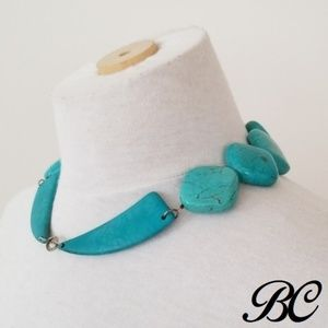 Jewelry - Large Turquoise Stone Bead Statement Necklace